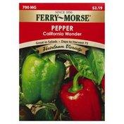 Ferry Morse Seeds, Pepper, California Wonder