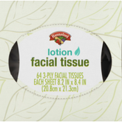 Hannaford 3-Ply Facial Tissue with Lotion