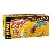 Eggo Kellogg's Eggo FiberPlus Calcium Buttermilk Waffles - 8 CT