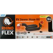 Camco RV Sewer Hose Kit, 15 Feet