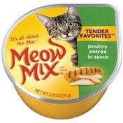 Meow Mix Tender Favorites Poultry Entree in Sauce Wet Cat Food
