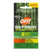 Off! Deep Woods Insect Repellent Towelettes 2 ct