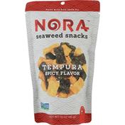 Nora Seaweed Snacks, Spicy Flavor, Tempura