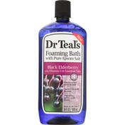 Dr. Teal's Foaming Bath with Pure Epsom Salt, Black Elderberry