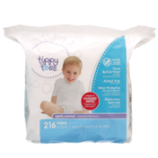 Tippy Toes Thick Quilted Wipes, Lightly Scented