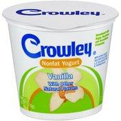 Crowley Nonfat Vanilla Yogurt