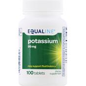 Equaline Potassium, 99 mg, Tablets