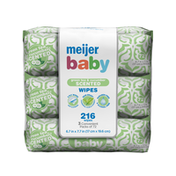 Meijer Baby Wipes, Green Tea and Cucumber, 3 Pack