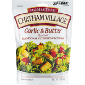 Chatham Village Garlic & Butter Flavored Traditional Cut Baked Croutons