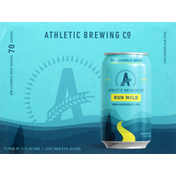 Athletic Brewing Co Beer, Run Wild, Non-Alcoholic, IPA