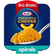 Kraft Spirals Original Macaroni & Cheese Easy Microwavable Big Bowl Dinner