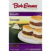 Bob Evans Biscuits Sausage - 6 CT
