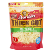 Borden Low-Moisture Part-Skim Thick Cut Shredded Cheese Mozzarella