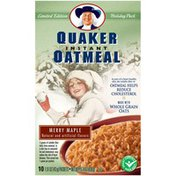 Quaker Holiday Pack Merry Maple Instant Oatmeal