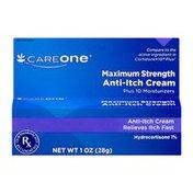 CareOne Maximum Strength 1% Hydrocortisone Anti-Itch Cream/Plus10 Moisturizers