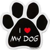 Imagine This I Love My Dog Paw Shaped Car Magnet