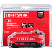 Craftsman Battery, 20 Volts, 2.0 Ah, Lithium Ion