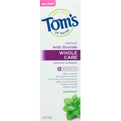 Tom's of Maine Toothpaste, Spearmint, Anticavity, Natural with Fluoride