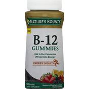 Nature's Bounty Vitamin B-12, Gummies, Raspberry, Mixed Berry & Orange Flavored