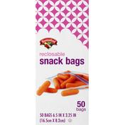 Hannaford Reclosable Snack Bags