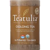 Teatulia Oolong Tea, Organic, Pyramid Tea Bags