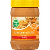 Food Club Spread, Honey Peanut Butter, Creamy