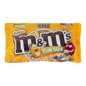 M&M's Peanut Milk Chocolate Candies Fun Size