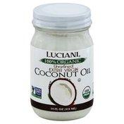 Luciani Coconut Oil, Extra Virgin, 100% Organic, Unrefined