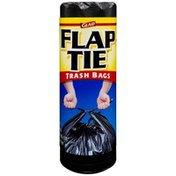 Glad Black Flap Tie 30 Gallon Trash Bag