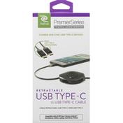 ReTrak USB Type-C to USB Type-C Cable, Retractable