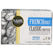 Nash's Coffee Co. Dark French Roast 100% Arabica Classic Coffee Single Cups