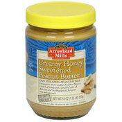 Arrowhead Mills Sweetened Peanut Butter, Creamy Honey