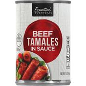 Essential Everyday Tamales, Beef, in Sauce