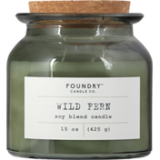Foundry Candle Co. Candle, Soy Blend, Wild Fern