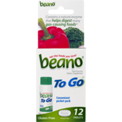 Beano To Go Food Enzyme Dietary Supplement Tablets