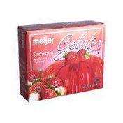 Meijer Strawberry Flavored Gelatin dessert
