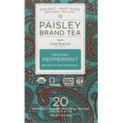 Paisley Brand Tea Tea, Organic, Peppermint
