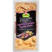 Hormel Gatherings Culinary Pairings Sopressata Salami & Gouda Cheese Snack Tray