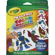 Crayola Drawing Pad, Mess Free, Metallic Paper