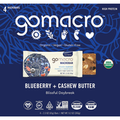 GoMacro Macrobars, Blueberry + Cashew Butter