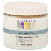 Aura Cacia Aromatherapy Mineral Bath, Tranquility, Spring Flowers Aroma