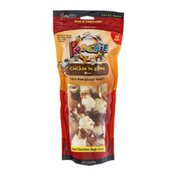Poochie Pets Chicken on a Bone Mini Rawhide Treats for Dogs - 10 CT