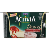 Activia Yogurt, Dessert, Strawberry Cheesecake