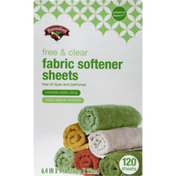 Hannaford Free & Clear Fabric Softener Sheets
