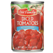 Our Family No Salt Added Diced Tomatoes