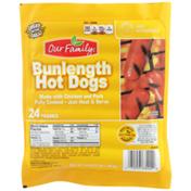 Our Family Bun Length Hot Dogs Franks