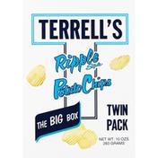 Terrells Potato Chips, Ripple Style, Twin Pack