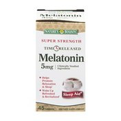 Nature's Bounty Melatonin 5mg Time Released Dietary Supplement Tablets - 45 CT