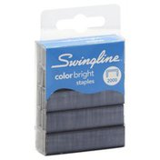 Swingline Staples, Color Bright, Blister Pack