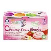 Gerber Graduates 2+ Creamy Fruit Blends Strawberry Vanilla - 4 CT